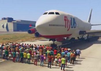 Gokil Gamer GTA V Ini Coba Tabrakan Pesawat Jumbo Jet Ke 100 Orang
