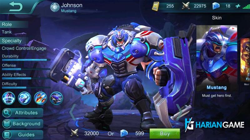 Guide Hero Johnson Mobile Legends