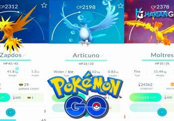 Tips & Trik Untuk Mendapatkan Moltres, Zapdos Dan Articuno Dalam Pokemon Go