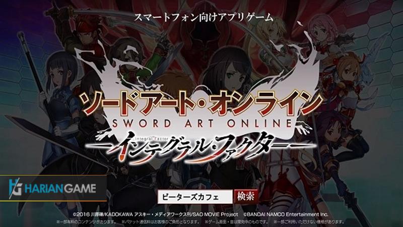 Game Sword Art Online: Integral Factor Akan Segera Rilis Di Mobile
