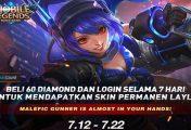 Event Bagikan Skin Layla - Malefic Gunner Permanen Mobile Legends